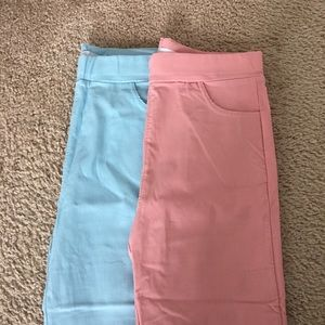 Forevere 21 Pink and Blue Leggings